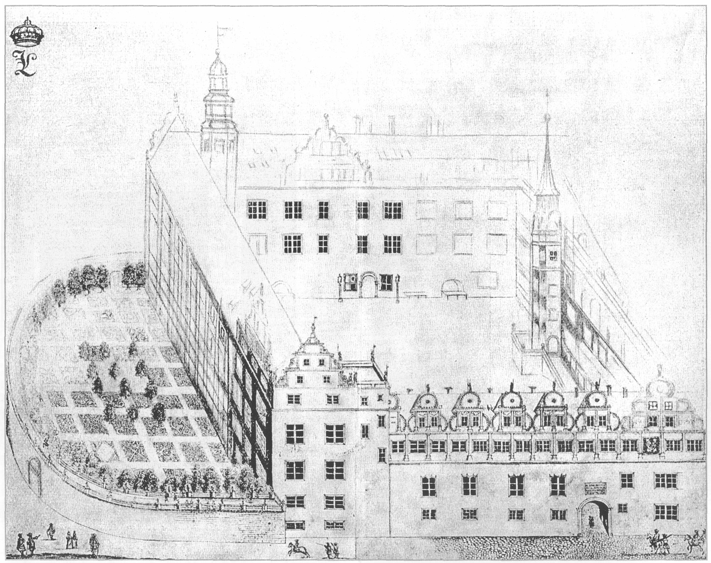 Residenzschloss in Dessau vor 1700