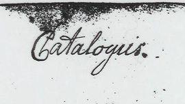 Handschrift Winckelmanns. Titelseite eines von ihm angefertigten Katalogs. Winckelmanns Nachlass, Paris, Bibliothèque Nationale de France, Département des manuscrits, Fonds allemand, Bd. 73, fol. 46.