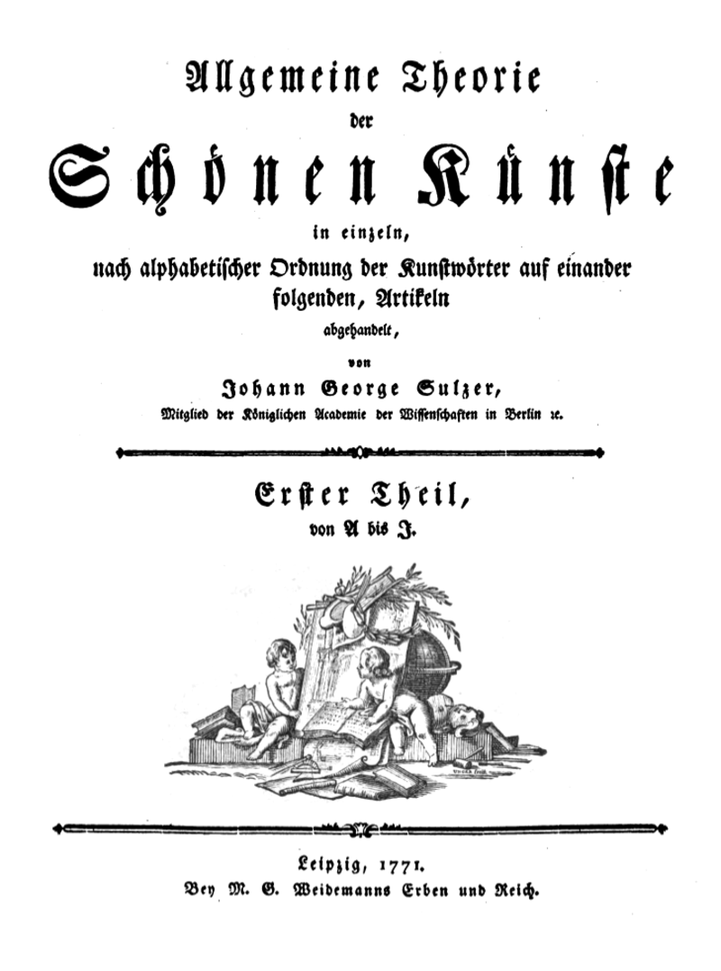 Johann Georg Sulzers Beitrag zur Ästhetik