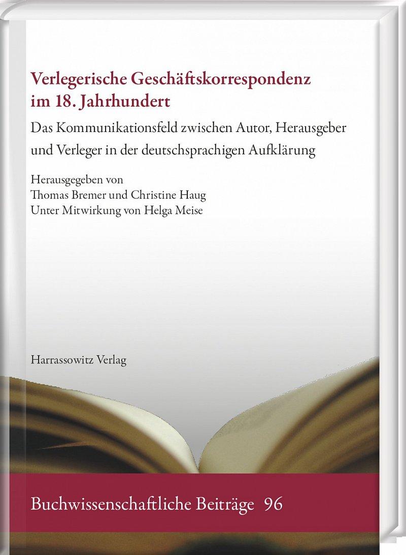 Verlegerische Geschäftskorrespondenz im 18.Jh.