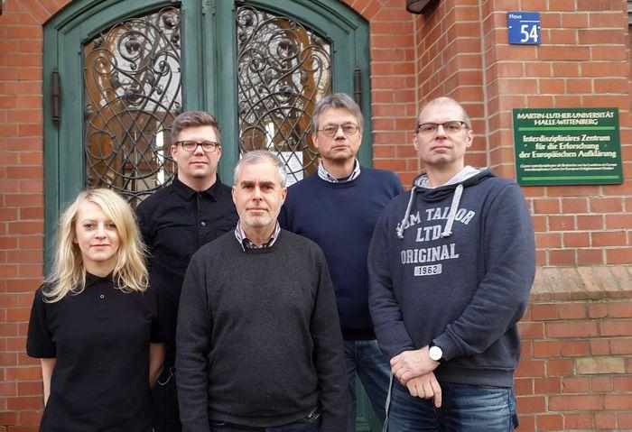 Von links nach rechts: M. Zimmermann, D. Maneke, F. Grunert, M. Hambrock, M. Kühnel (Stand: Nov. 2017)